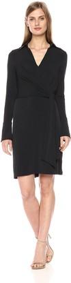 Laundry by Shelli Segal Women's Faux Wrap Matte Jersey Shirt Dress
