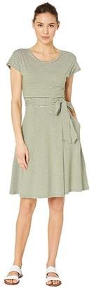Toad&Co Cue Wrap Short Sleeve Dress (Fir) Women's Clothing