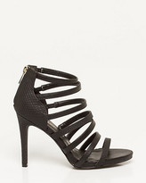 Le Château Leather-Like Snake Print Strappy Sandal