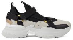 HUGO BOSS Hybrid Sneakers With Webbed Tape Details - Light Grey