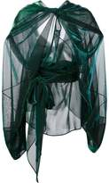 Maison Margiela sheer draped effect blouse
