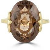 Effy Jewelry Effy 14K Yellow Gold Smokey Quartz Ring, 12.30 TCW
