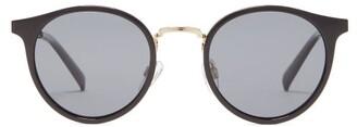 Le Specs Tornado Round Acetate Sunglasses - Womens - Black Gold