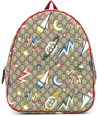 Gucci Kids GG Supreme canvas graphic-print backpack