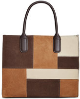 Giani Bernini Suede Patchwork Satchel, Only at Macy's