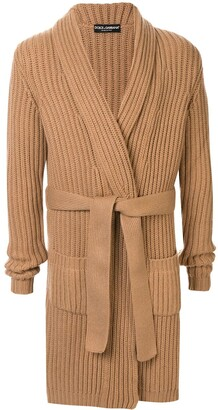 Dolce & Gabbana Belted Cashmere Cardigan