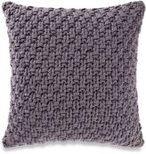 Kenneth Cole Reaction Home Chunky Knit Square Throw Pillow in Orchid