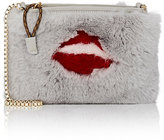 Mr & Mrs Italy Women's Lips Fur Crossbody Bag