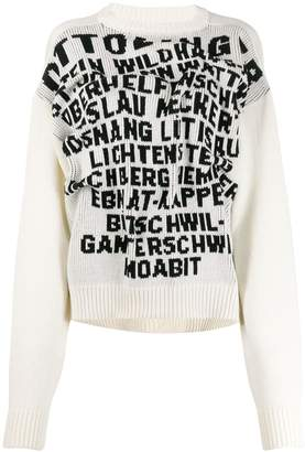 Alphabet knit jumper by Ottolinger, available on shopstyle.com for $567 Kendall Jenner Top Exact Product