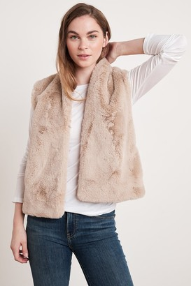 Velvet by Graham & Spencer Chelle Faux Lux Fur Open Vest