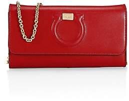 Salvatore Ferragamo Women's Gancini Leather Wallet-On-Chain