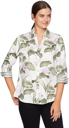 Foxcroft Women's Mary Waterlily Wrinkle Free Shirt