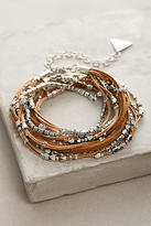 Anthropologie Rose Twisted Wrap Bracelet