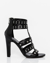 Le Château Leather-Like Open Toe Gladiator Sandal