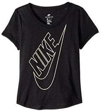 Nike Jeweled Futura Girls' Training Shirt, Girls, AJ8222-010