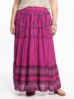 Old Navy Plus-Size Tiered Boho Maxi Skirt