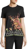 Etro Paisley & Polka-Dot T-Shirt, Black