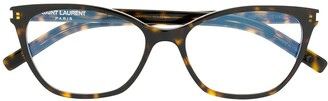 Saint Laurent Eyewear Round Tortoiseshell Glasses