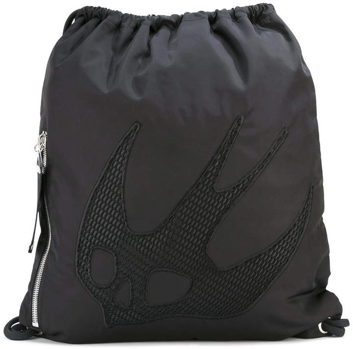 McQ swallow embellished backpack