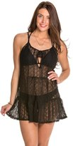 Jessica Simpson Solid Tie Front Lace Cover Up 8124024