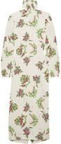 Emilia Wickstead Alison Floral-print Crepe Turtleneck Dress - Ivory