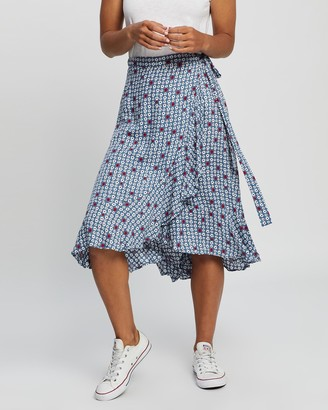 All About Eve Women's Midi Skirts - Retro Floral Wrap Skirt - Size One Size, 6 at The Iconic
