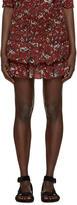 Etoile Isabel Marant Burgundy Alfos Miniskirt
