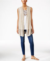 JM Collection Open-Front Vest, Only at Macy's