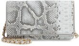 Nordstrom Sandra Snakeskin Print Leather Clutch
