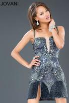 Jovani Spaghetti Strap with Crystal Embellishment Cocktail Dress 88733