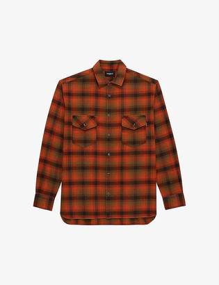 The Kooples Checked cotton-blend shirt