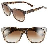 Bobbi Brown Women's 'The Gretta' 56Mm Colorblock Sunglasses - Khaki/ Tortoise