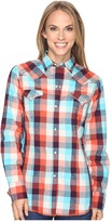 Roper 0618 Sunrise Buffalo Plaid Shirt Women's Clothing
