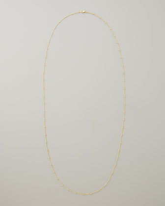 "Dogeared Beaded Chain Necklace, 36""L"