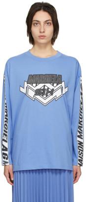 MM6 MAISON MARGIELA Blue Motocross Long Sleeve T-Shirt
