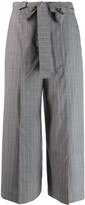 Each X Other pinstriped belted culottes