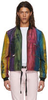 Saint Laurent Multicolor Silk Striped Bomber Jacket