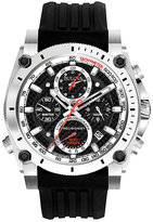 Bulova Precisionist men's black rubber strap watch