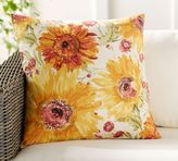 Pottery Barn Watercolor Sunflower Pillow Cover