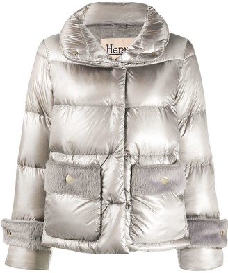 Herno Quilted High Neck Puffer Jacket
