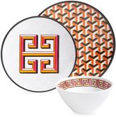 Jonathan Adler Orange Mykonos Melamine Dinnerware Set