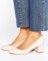Dune Atlas Mid Block Heel Court Shoes