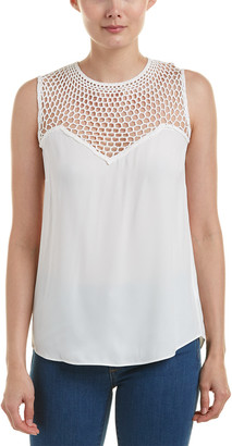 A.L.C. Nicky Silk-Lace Top