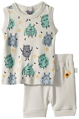 finn + emma Tank Tee w/ Shorts (Infant/Toddler) (Monsters) Boy's Active Sets
