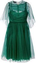Rochas sheer sleeve dress - women - Silk/Polyamide - 40