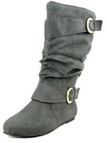 Journee Collection Chely-12 Wide Calf Round Toe Synthetic Knee High Boot.