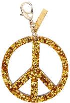 Edie Parker Peace Sign Speckled Bag Charm