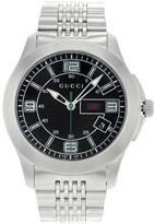 Gucci 126 G - Timeless YA126201 Stainless Steel with Black Dial 44mm Mens Watch