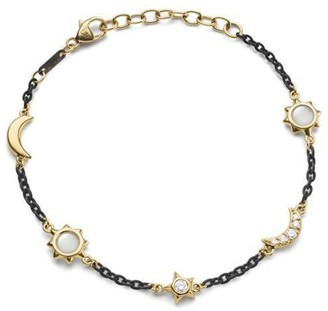 Monica Rich Kosann Black Steel Sun Moon Stars Bracelet