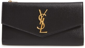 Saint Laurent Uptown Large Leather Envelope Wallet